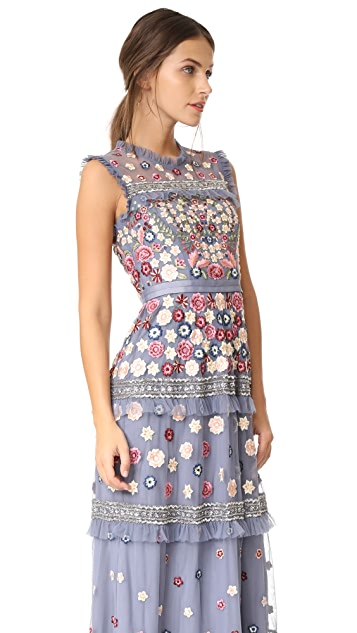 Needle & Thread Floral Jet Gown