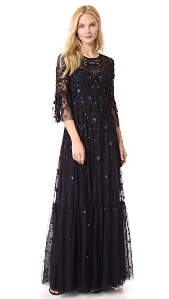 Needle & Thread Dragonfly Gown In Dusk