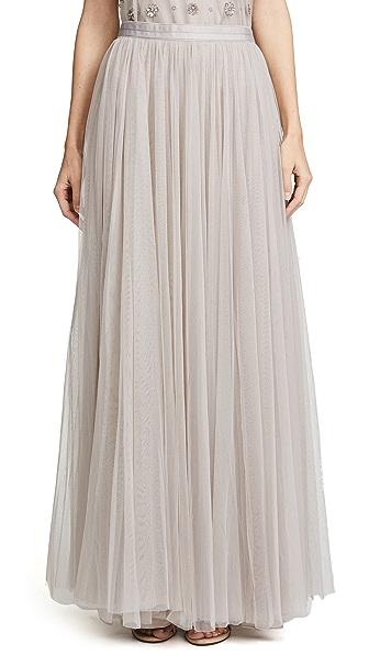 Needle & Thread Tulle Maxi Skirt In Dove