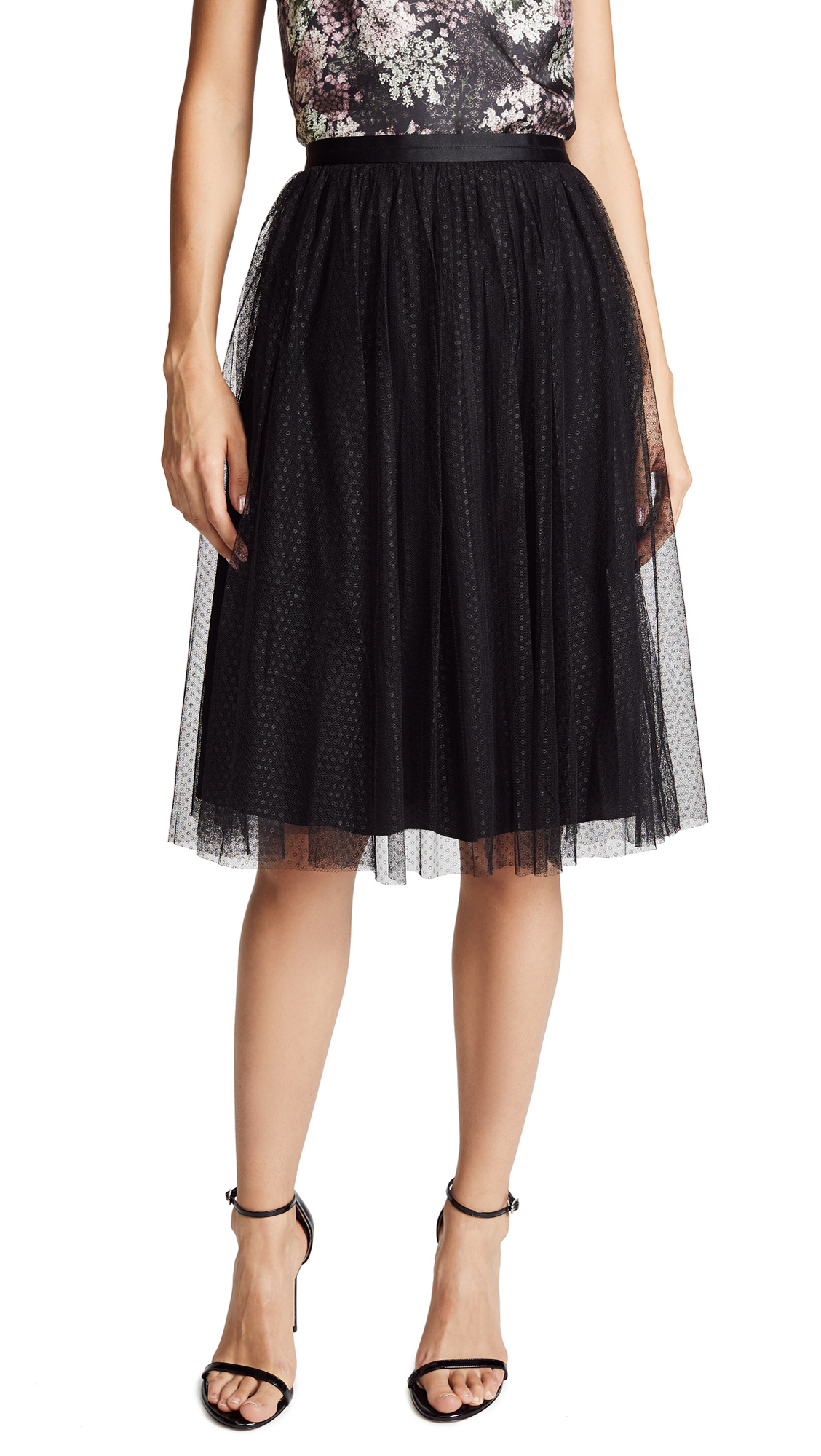 Needle & Thread Dotted Tulle Midi Skirt