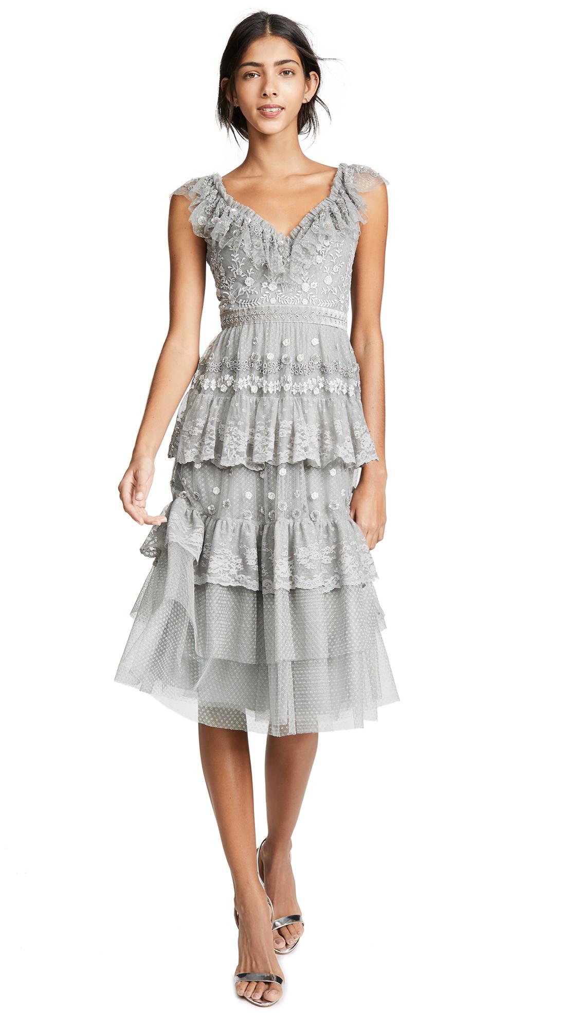 Needle & Thread Cinderella Cami Dress In Ash
