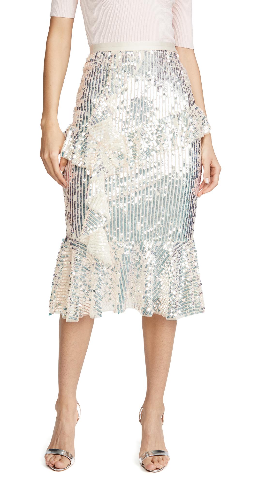 Buy Needle & Thread online - photo of Needle & Thread Scarlett Sequin Midaxi Skirt