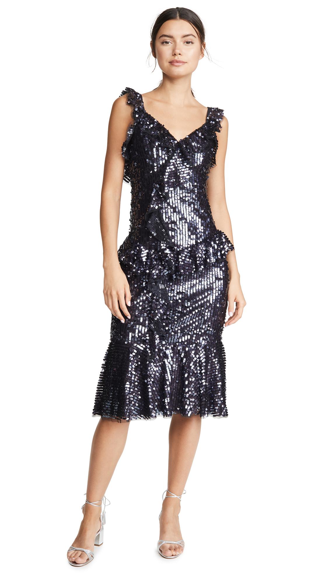 Buy Needle & Thread online - photo of Needle & Thread Scarlett Sequin Midi Dress