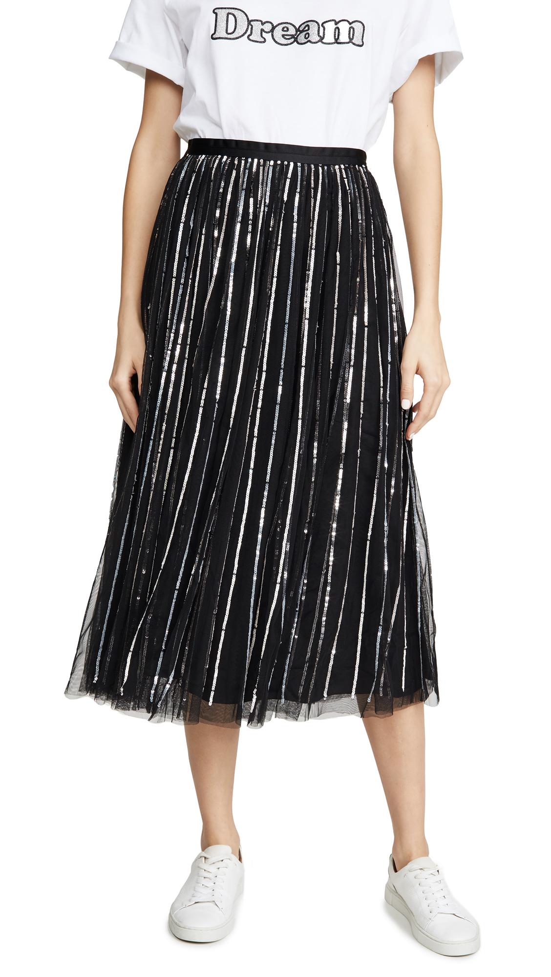 Buy Needle & Thread online - photo of Needle & Thread Shimmer Sequin Midaxi Skirt