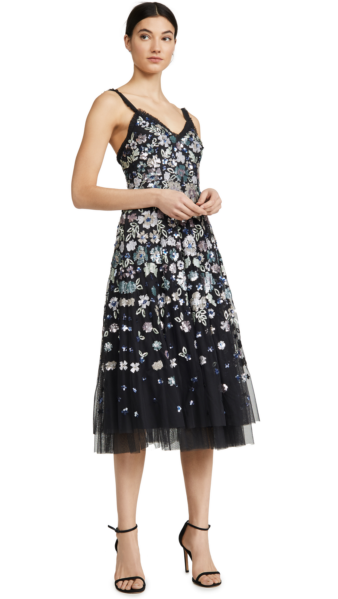Needle & Thread Wildflower Sequin Midi Dress - 30% Off Sale