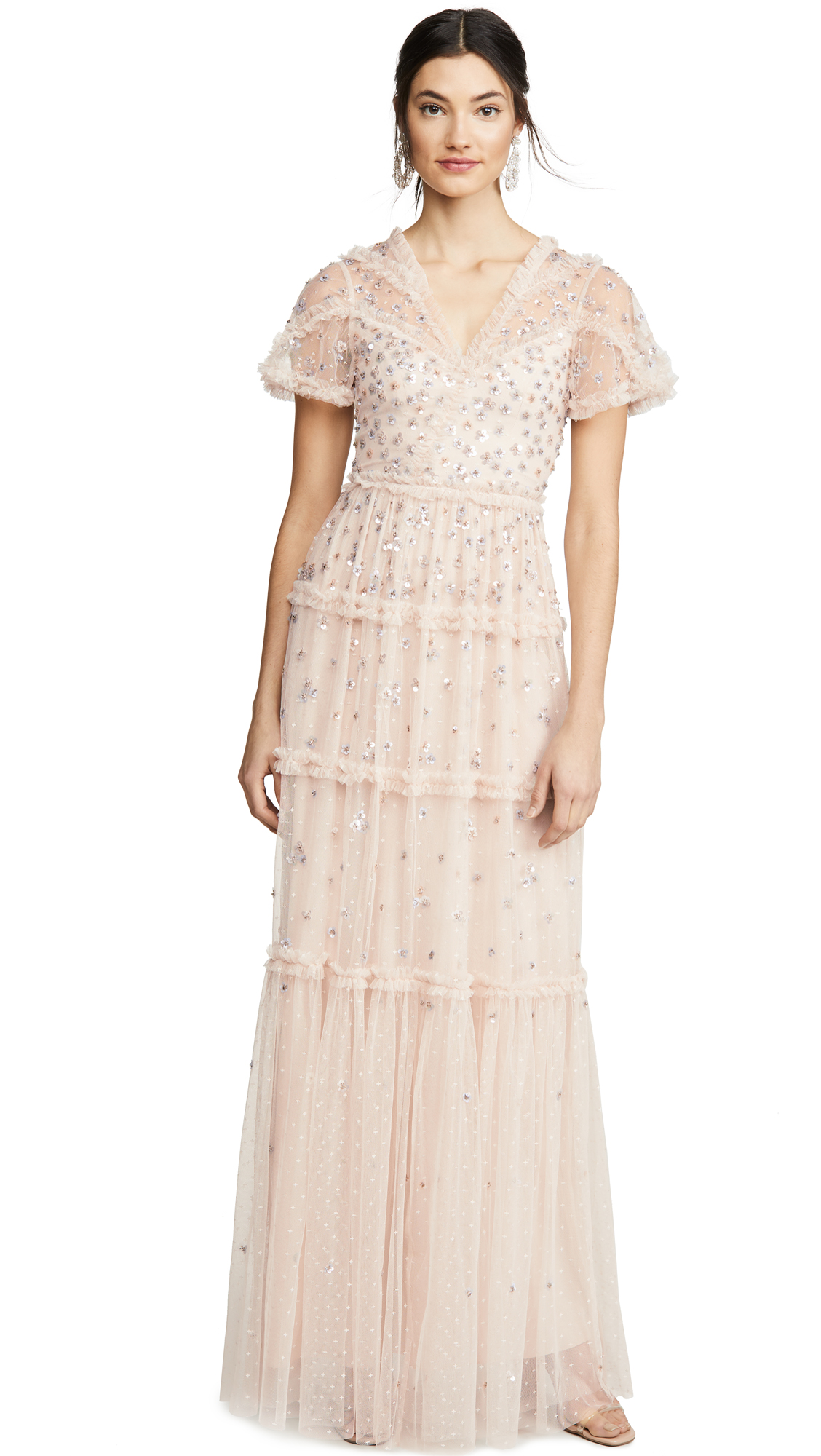 Needle & Thread Ruffle Glimmer Gown - 30% Off Sale