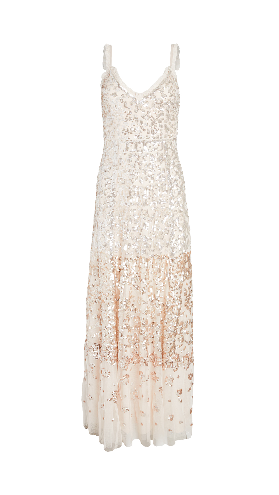 Needle & Thread PATCHWORK SEQUIN CAMI GOWN