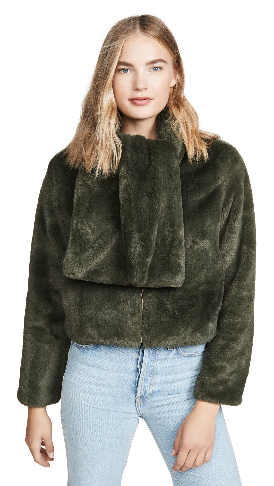Buy N12H online - photo of N12H Faux Fur Bomber Jacket