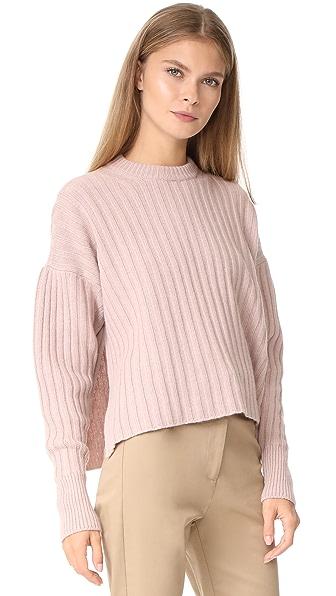 NUDE Round Neck Sweater - Powder