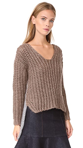 NUDE V Neck Sweater