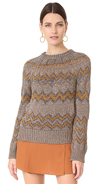 NUDE Round Neck Sweater - Gold