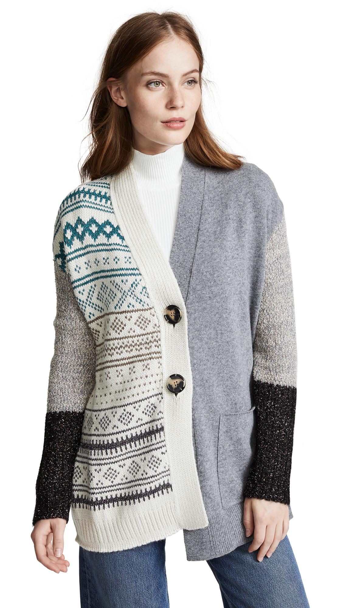 NUDE Knit Cardigan In Grey