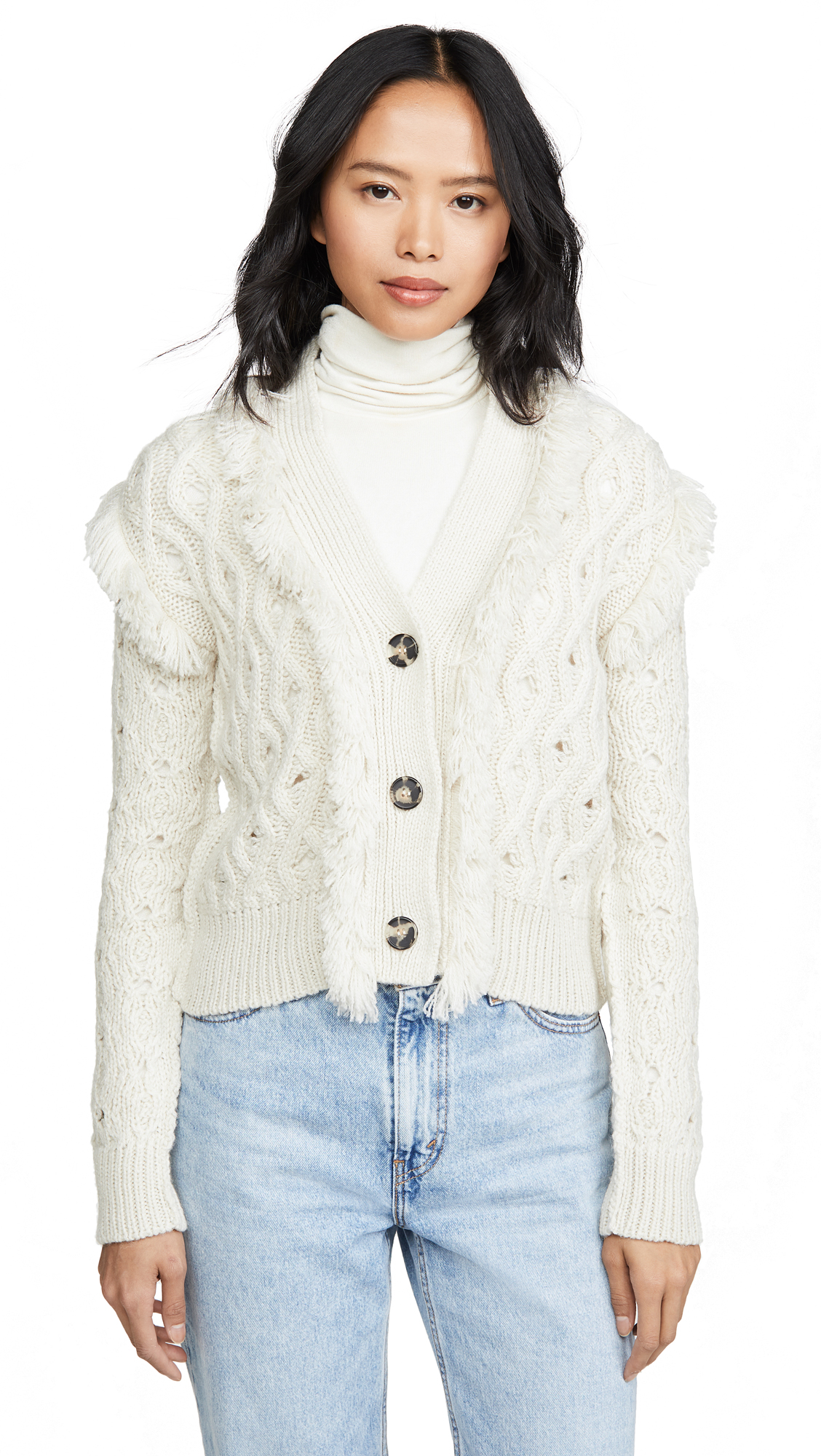 Buy NUDE online - photo of NUDE Knit Jacket With Fringe