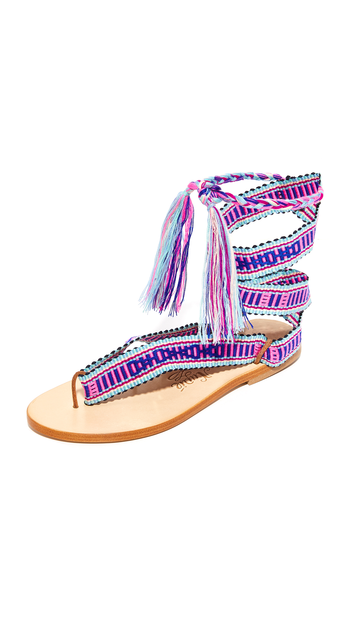 Nupie Nupie Wrap Sandals - Karen/Natural