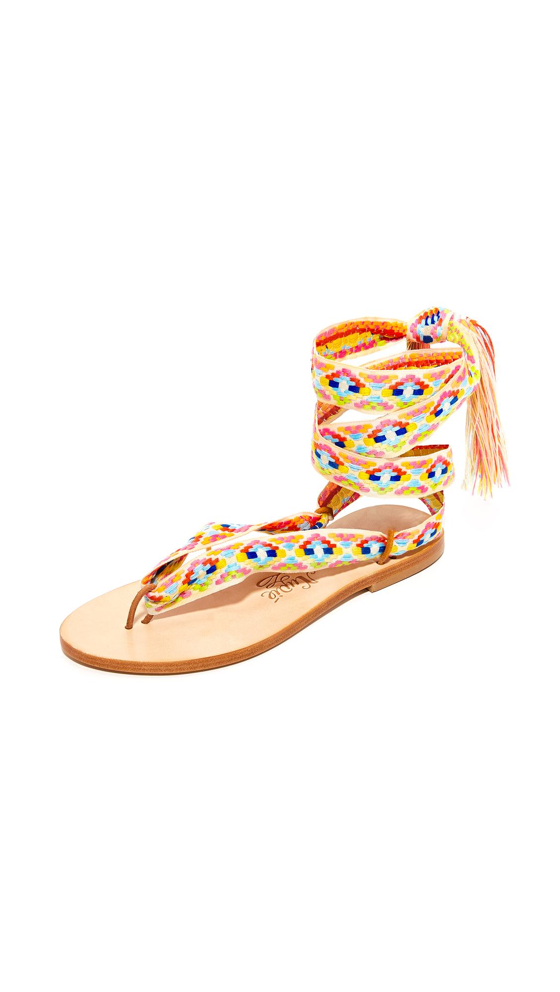 Nupie Nupie Wrap Sandals - Greece/Natural