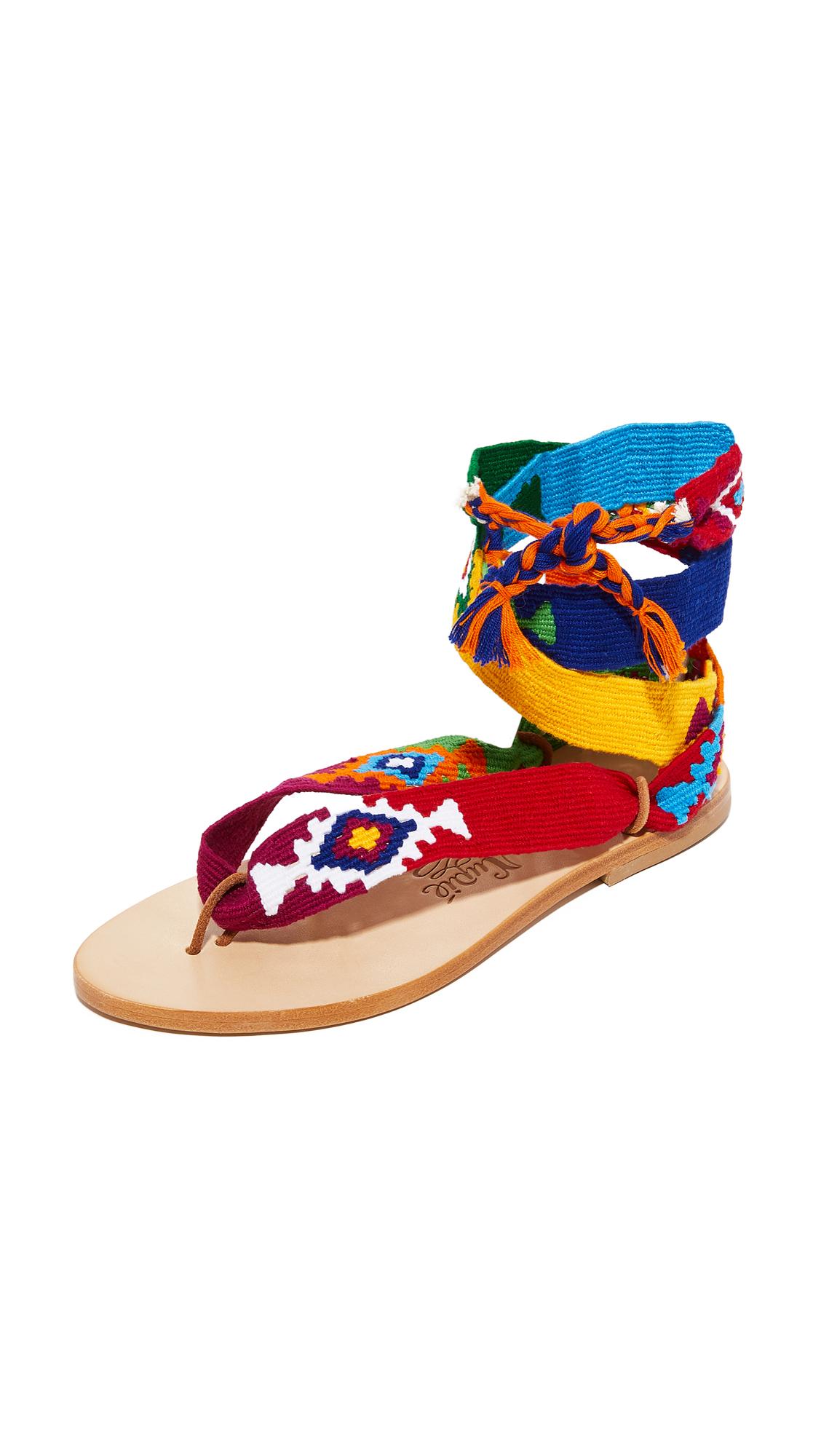 Nupie Nupie Wrap Sandals - Pepito Multico/Natural