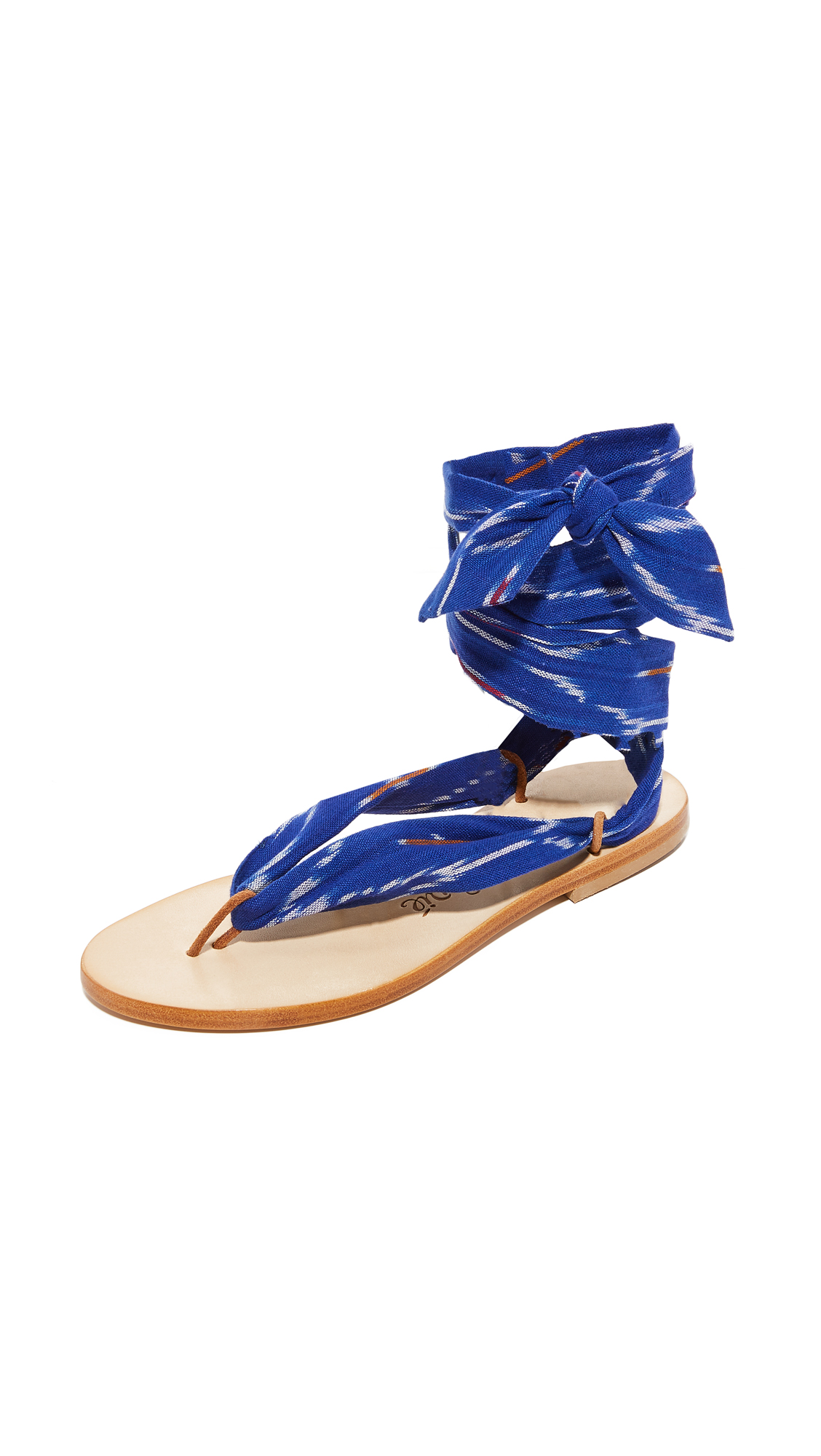Nupie Nupie Wrap Sandals - Ikat Bleu/Natural