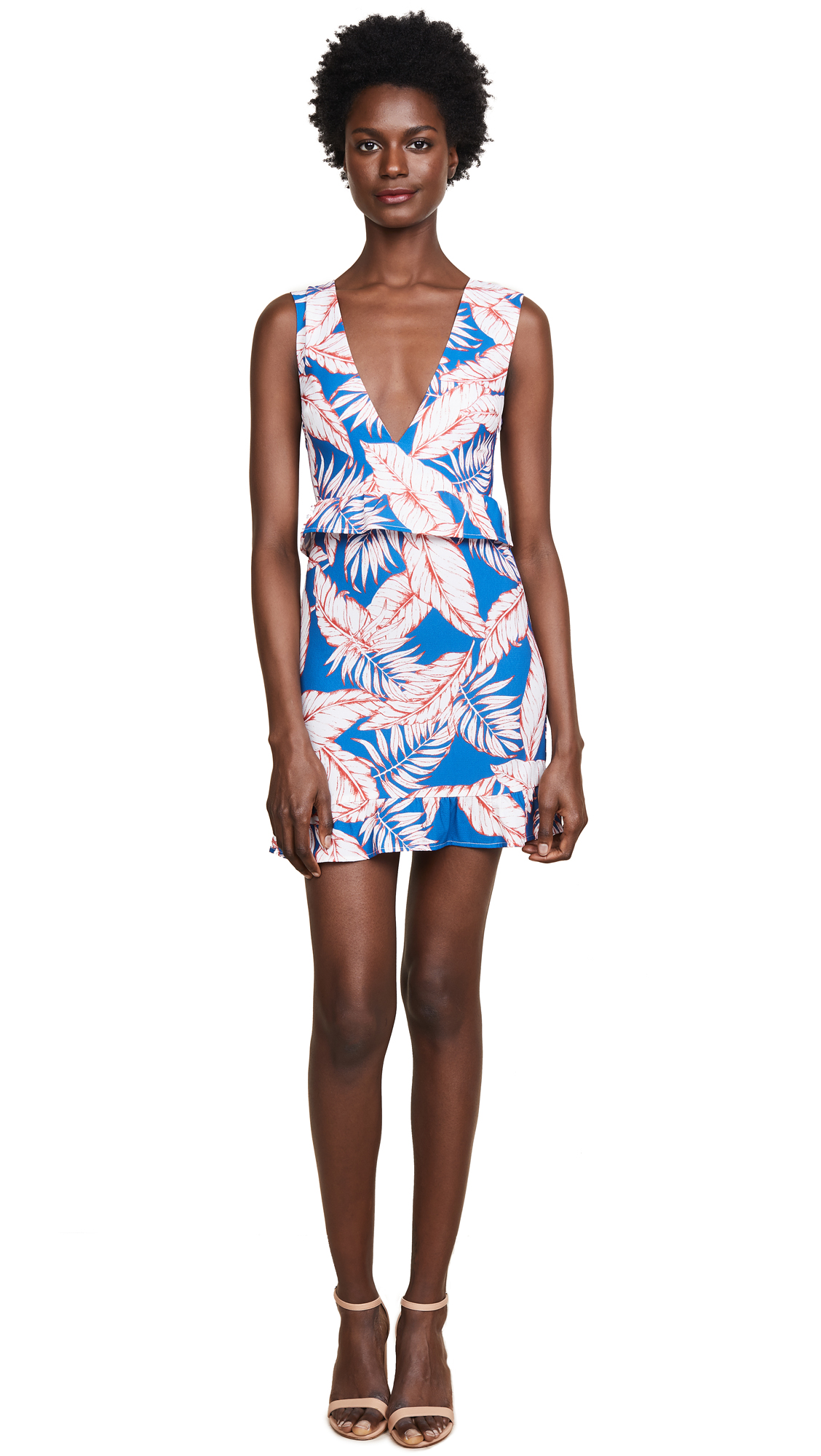 Nightwalker Elsa Mini Dress In Allover Fern