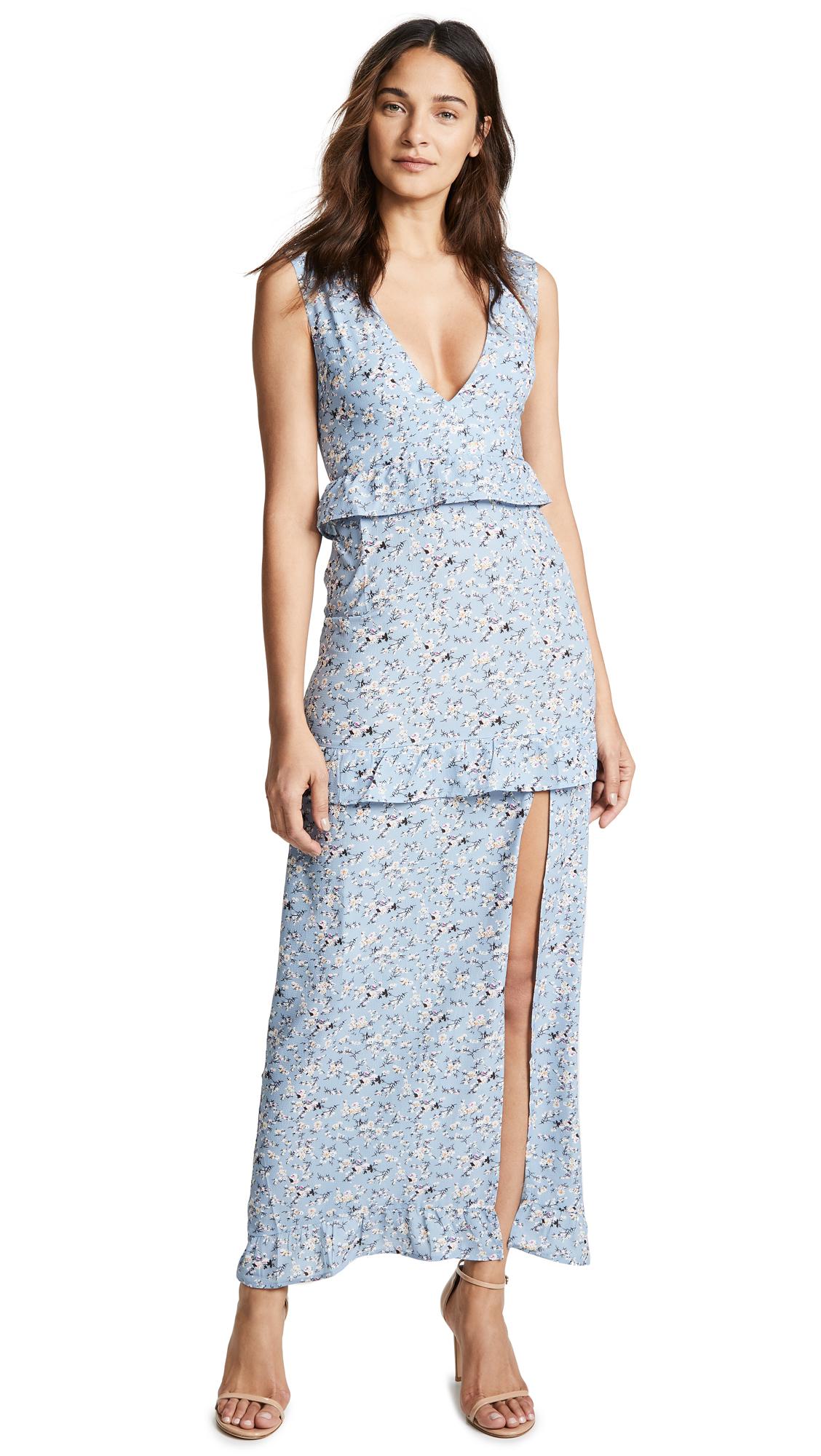 NIGHTWALKER Elsa Maxi Dress in Cornflower