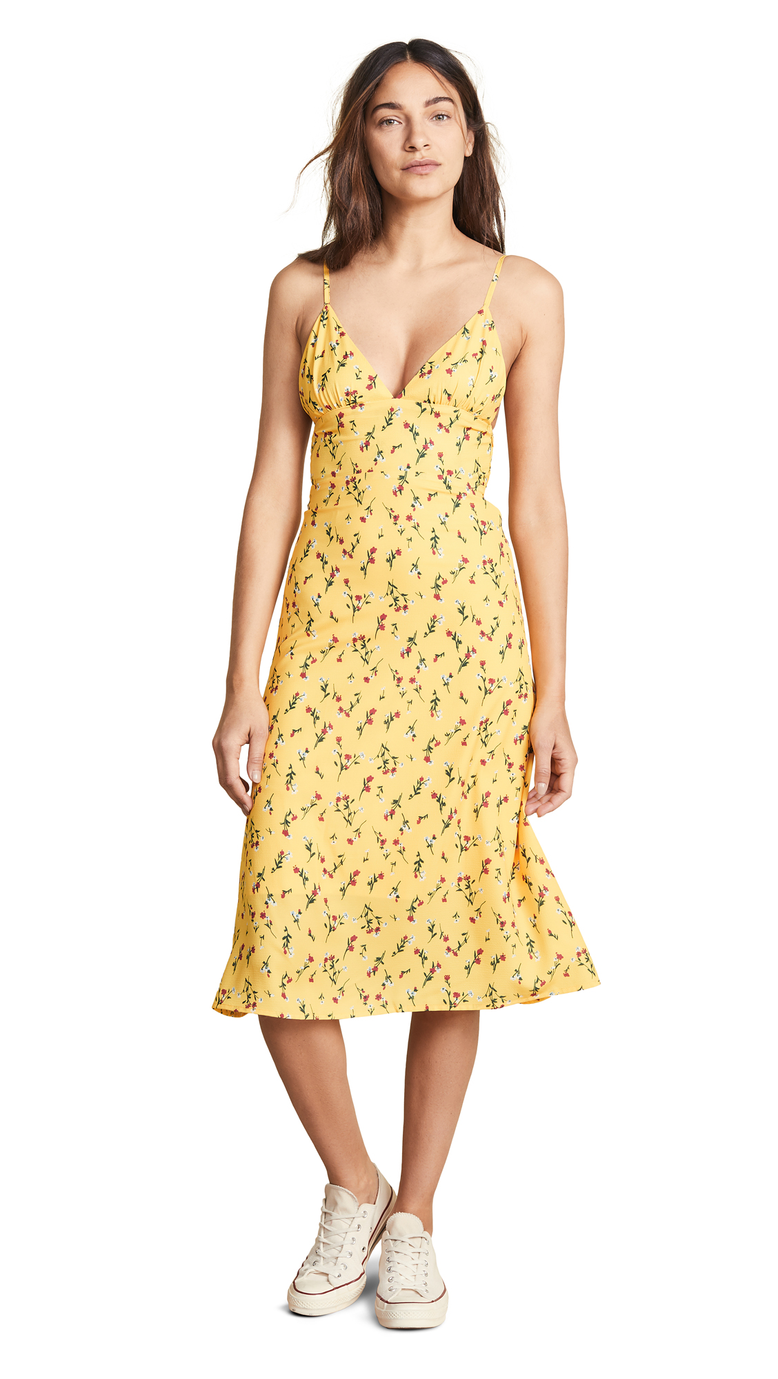 NIGHTWALKER The Nadia Dress in Yellow Floral