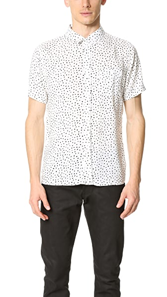 Native Youth Paintbrush Polka Dot Short Sleeve Shirt