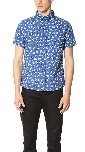 Native Youth Kiwi Print Short Sleeve Shirt