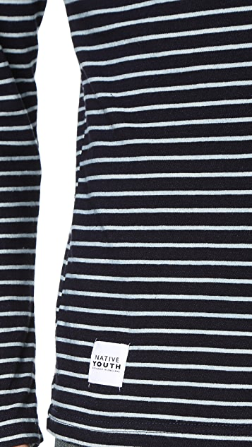 Native Youth Bound Breton Stripe Long Sleeve Tee