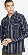 Native Youth Long Sleeve Selwyn Yarn Dyed Striped Shirt