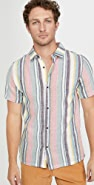 Native Youth Sustainable Stripe Short Sleeve Shirt