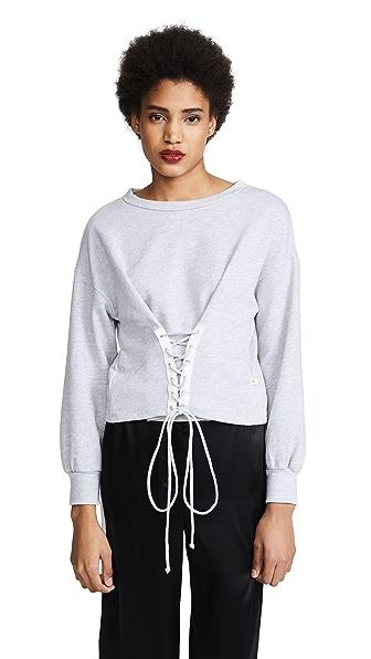 NYTT Riley Corset Sweatshirt In Heather Grey