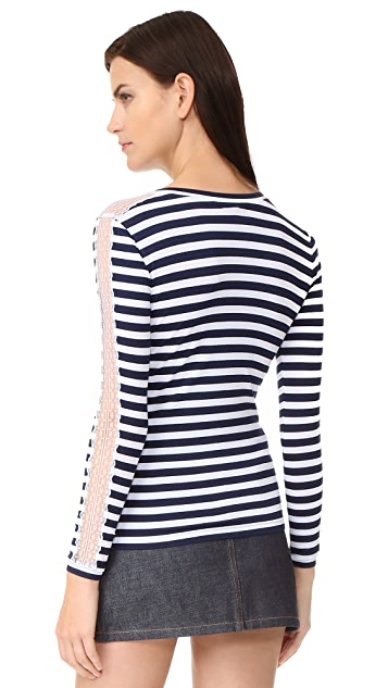 Natasha Zinko Striped Long Sleeve Top