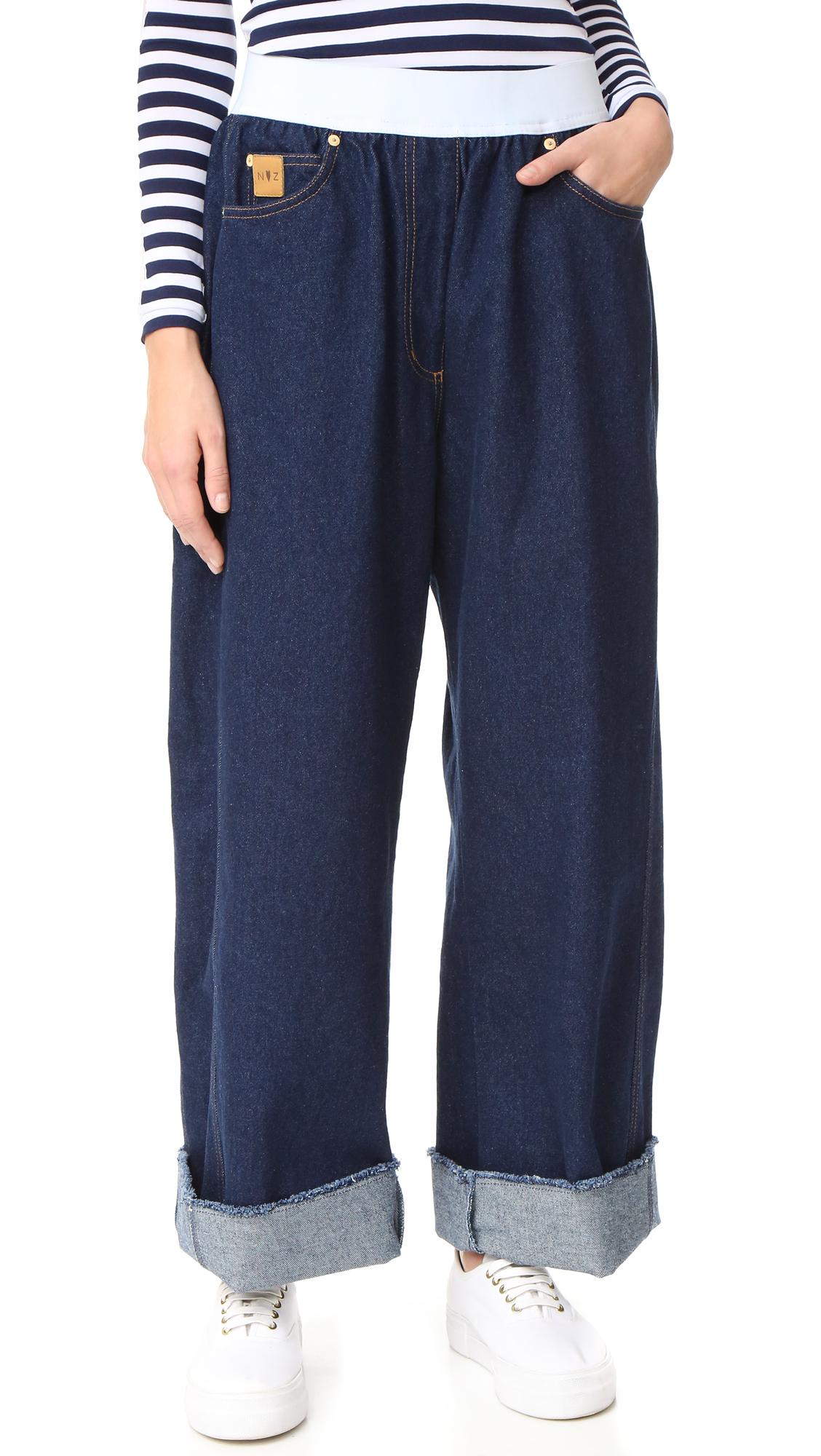 natasha zinko female natasha zinko pull on jeans denim