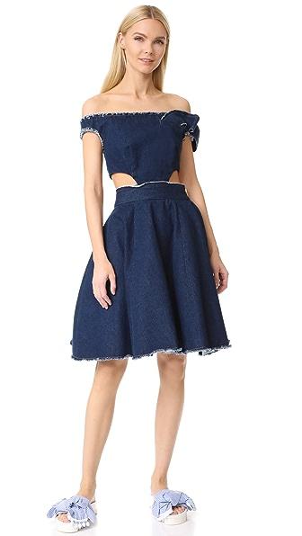 Natasha Zinko Twisted Ribbon Dress In Denim