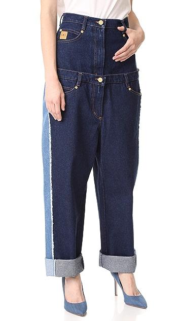 Natasha Zinko High Waist Double Jeans