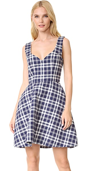 Natasha Zinko Cotton Mini Tulip Dress - Blue-White