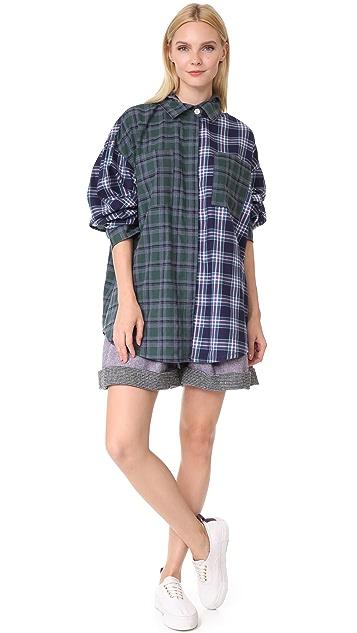 Natasha Zinko Wool Blend Shorts