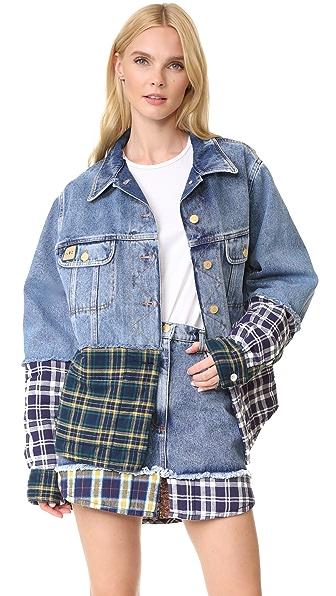 Natasha Zinko Combo Denim Short Jacket