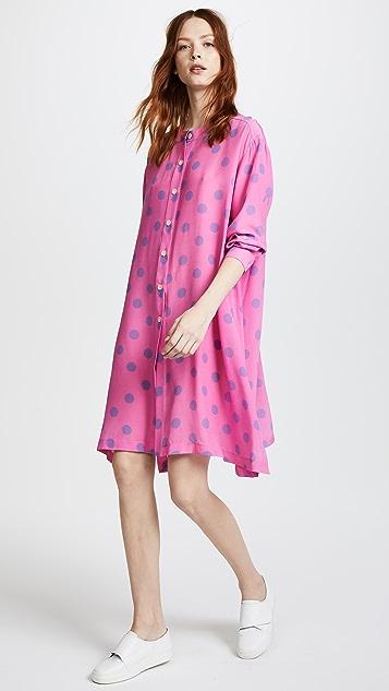 Natasha Zinko Silk Polka Dot Tunic Dress