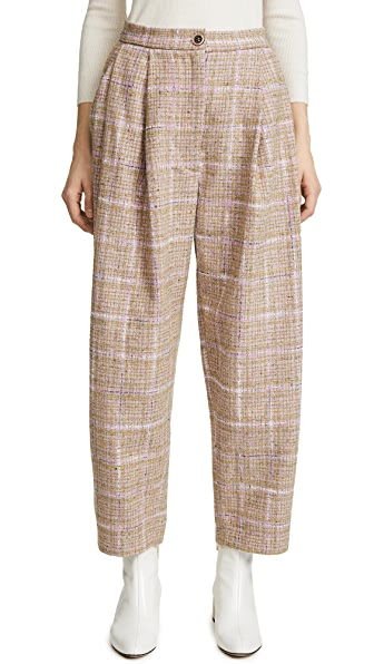 Natasha Zinko Tweed Wide Leg Trousers at Shopbop