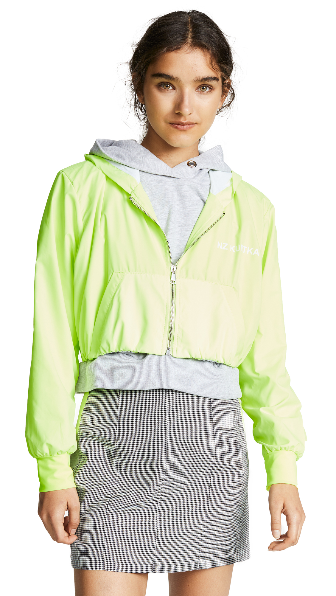 Double Jogging Jacket, Citron/Grey