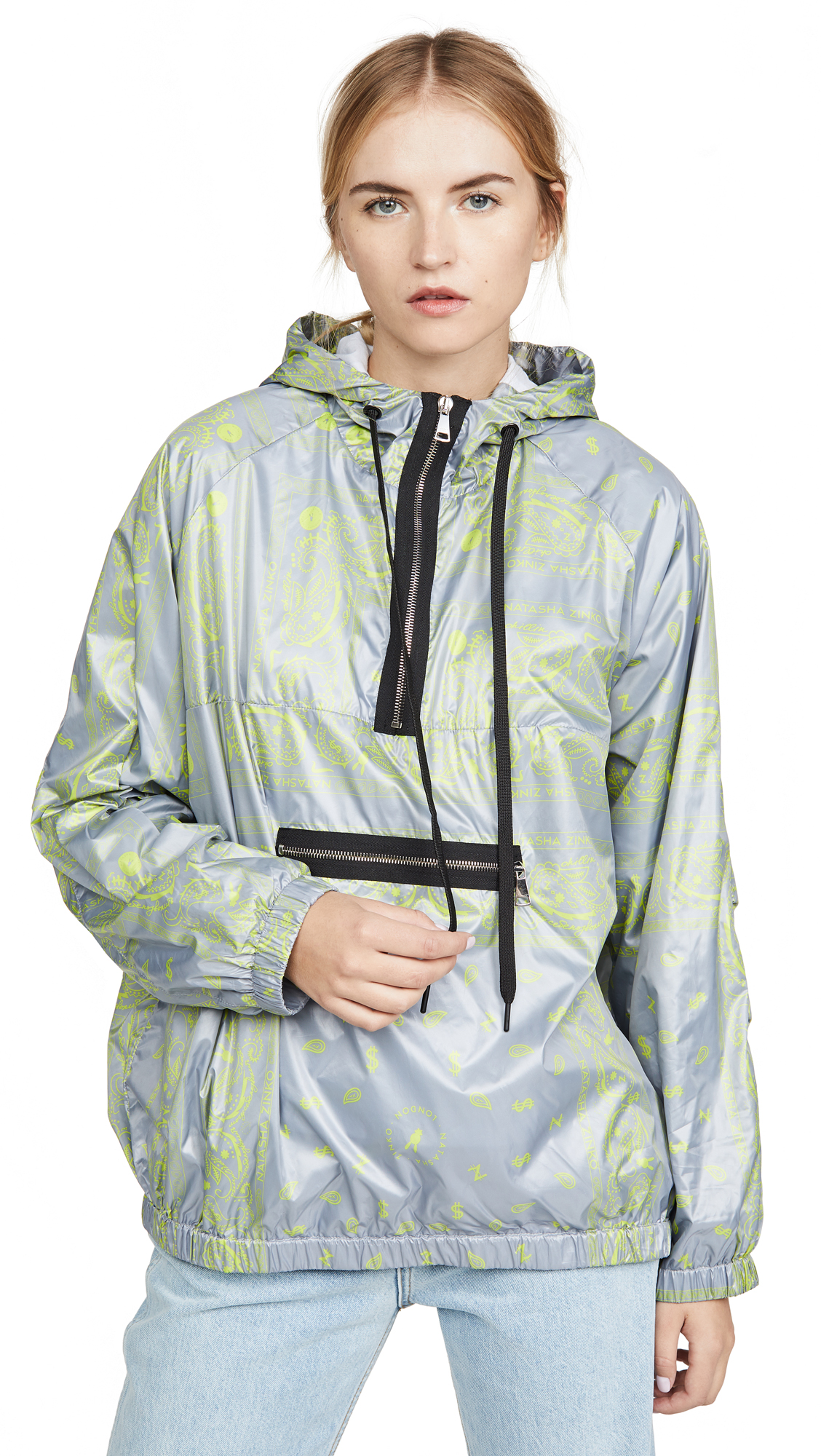 Buy Natasha Zinko online - photo of Natasha Zinko Printed Hooded Sport Jacket