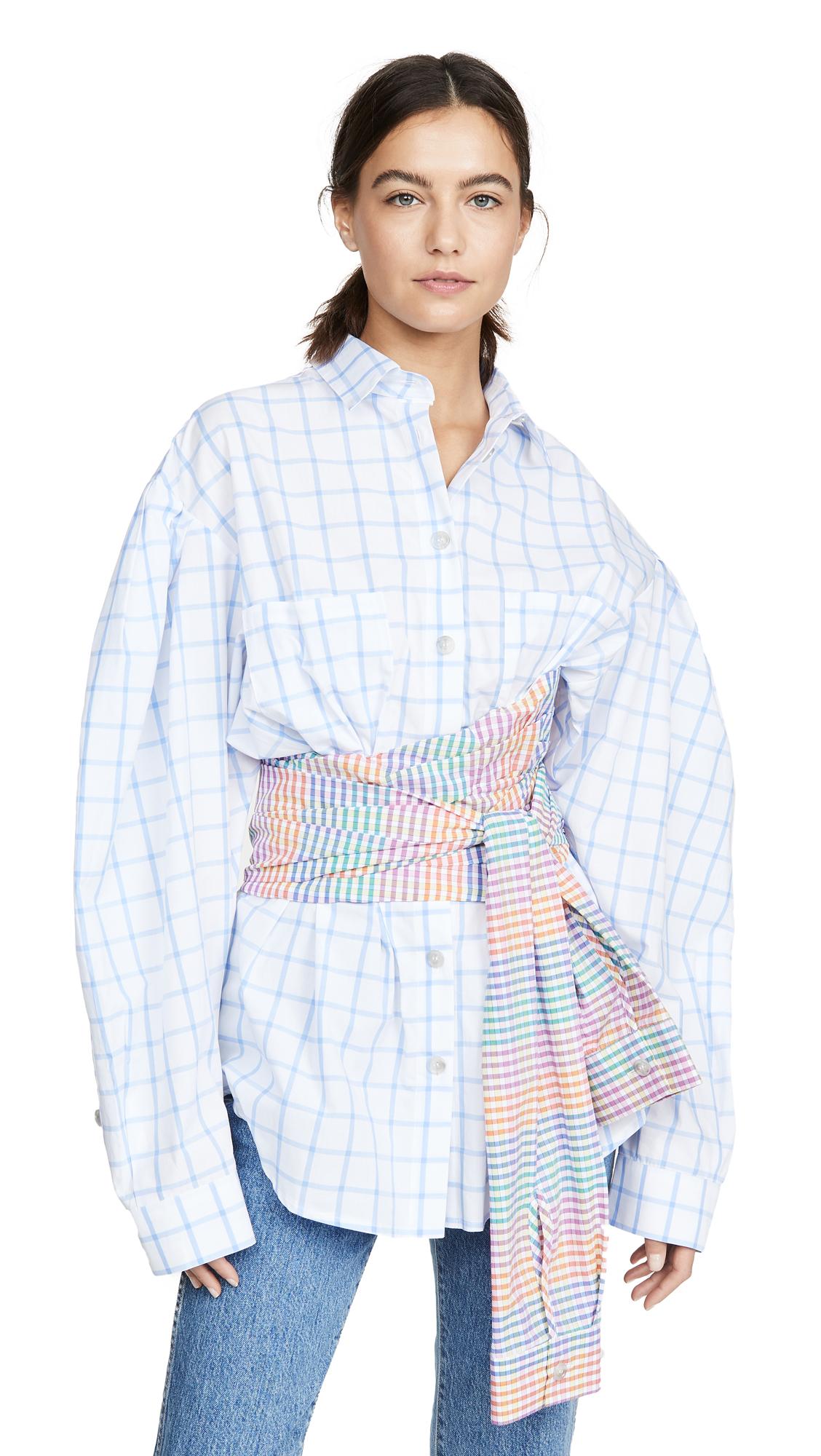 Buy Natasha Zinko online - photo of Natasha Zinko Corseted Wrap Around Shirt / Dress