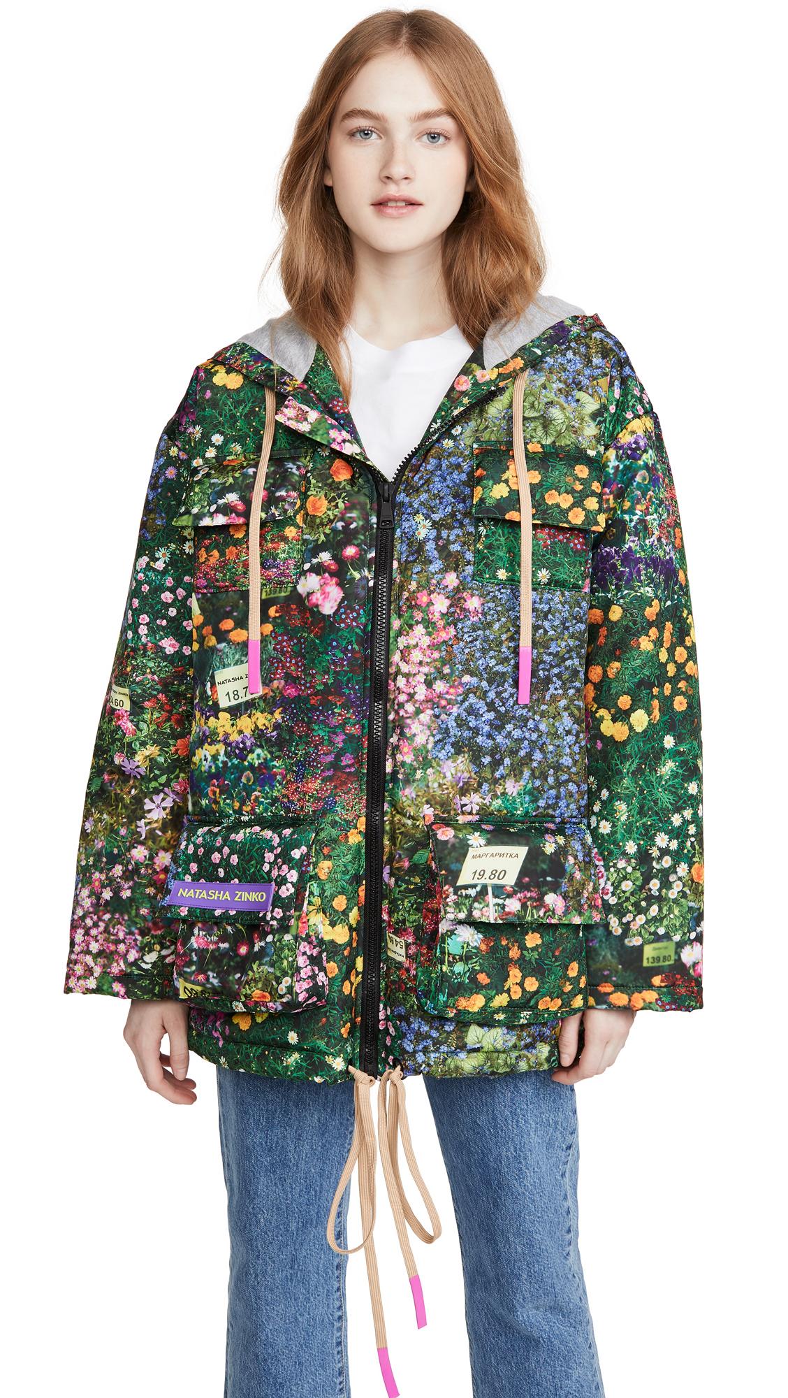 Buy Natasha Zinko Printed Hooded Badge Jacket online beautiful Natasha Zinko Jackets, Coats, Coats