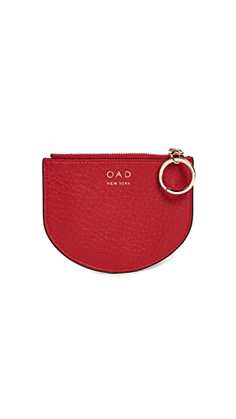 OAD Dia Mini Key Ring Pouch In Classic Red