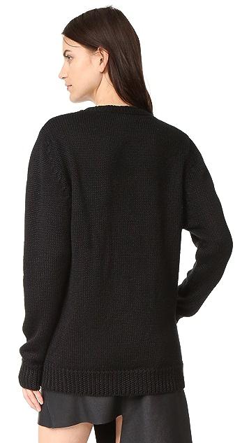 Oak Braided Crew Neck Sweater