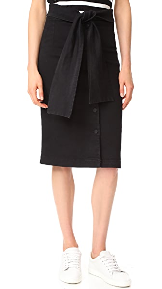 Oak High Waisted Skirt - Black