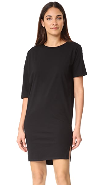 Oak Long Drop Shoulder Tee - Black