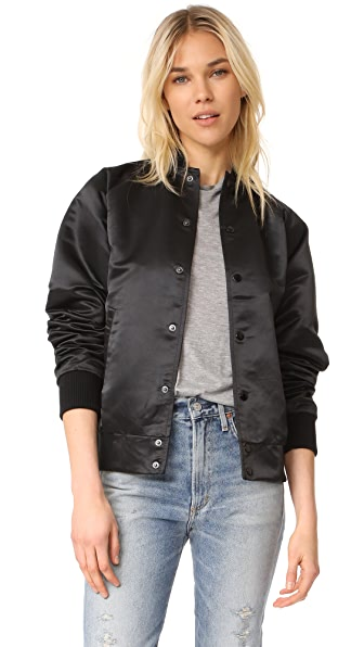 Oak Satin Bomber Jacket