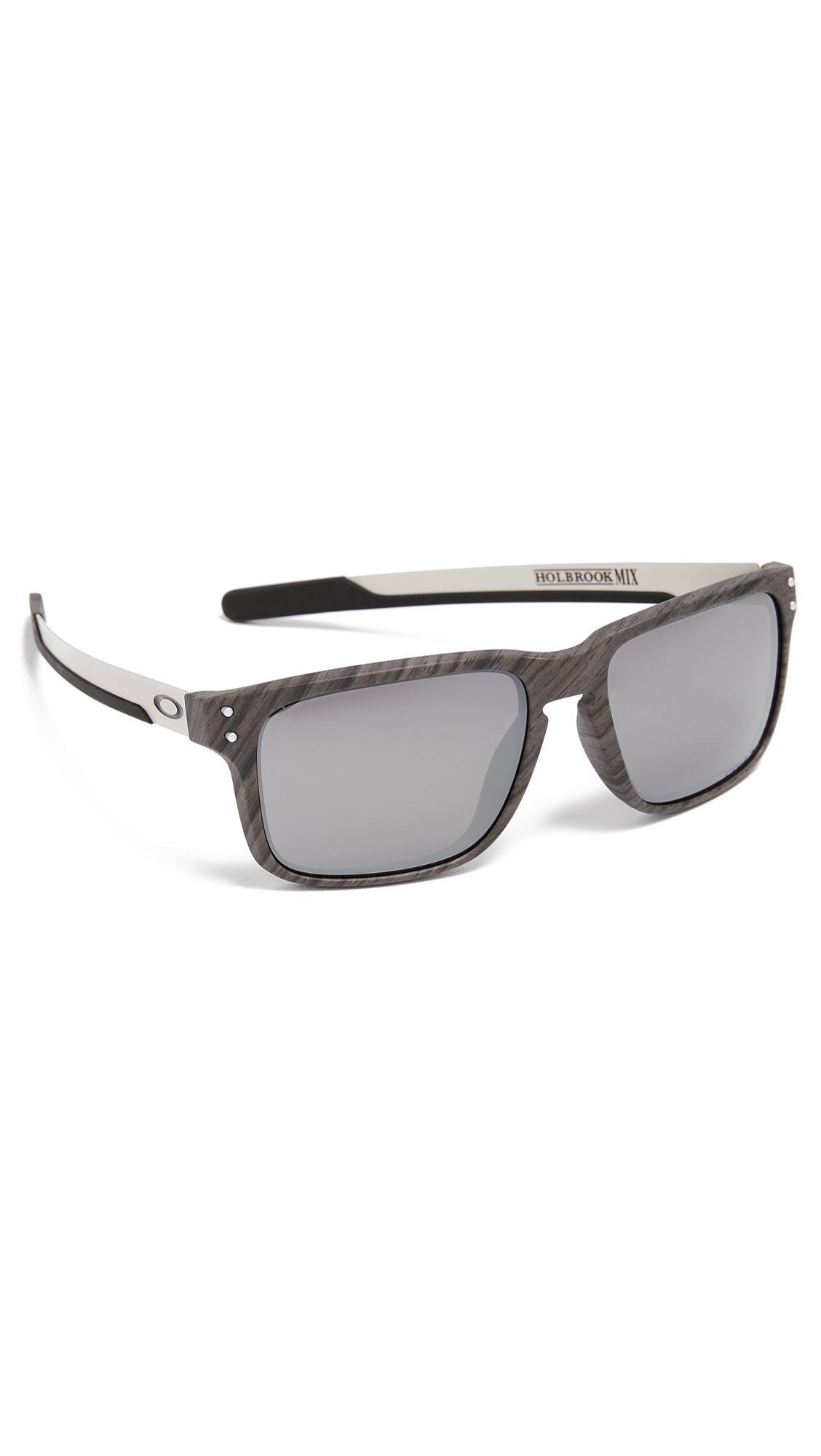 e3a8e7c0fa Oakley Holbrook Woodgrain Prizm Sunglasses In Black Silver ...