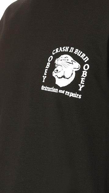 Obey Crash N Burn Long Sleeve Tee